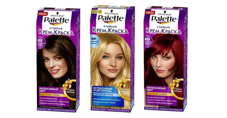 Обзор красок для волос Палет