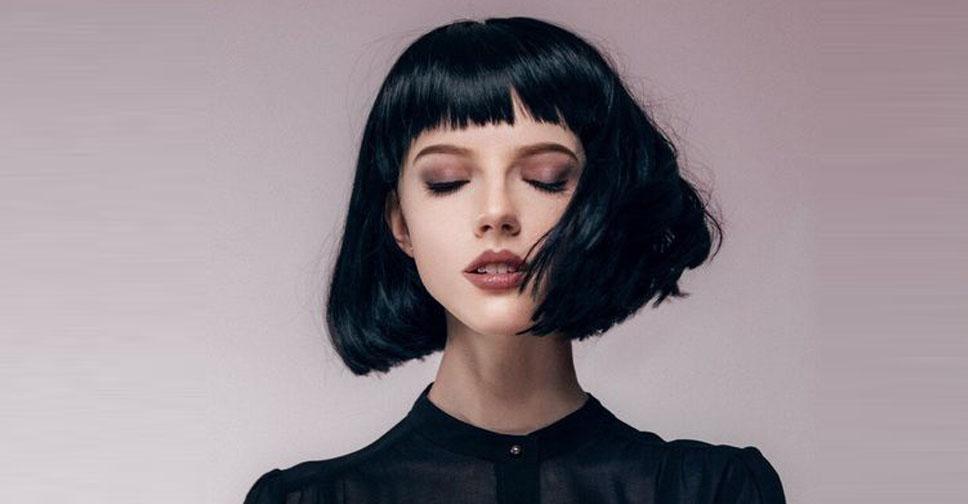 Каре темно русые волосы с челкой