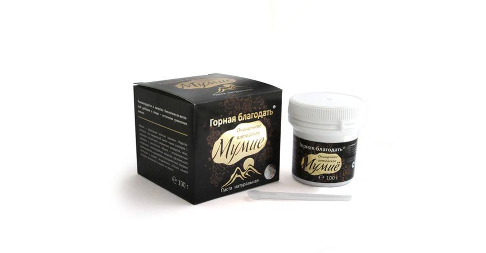 Золотое мумие для волос в шампунь
