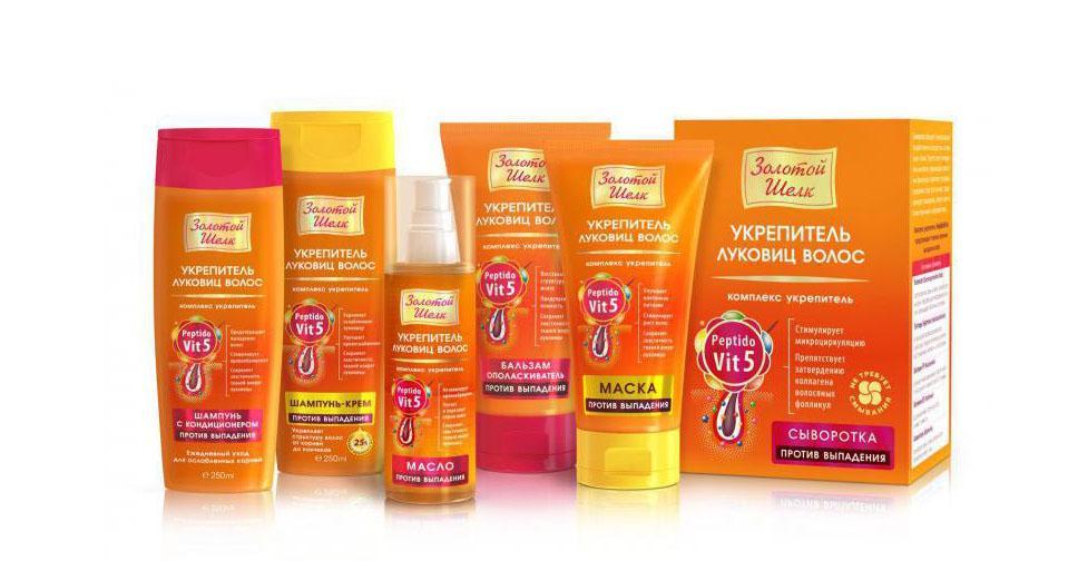Масло активатор роста волос золотой шелк