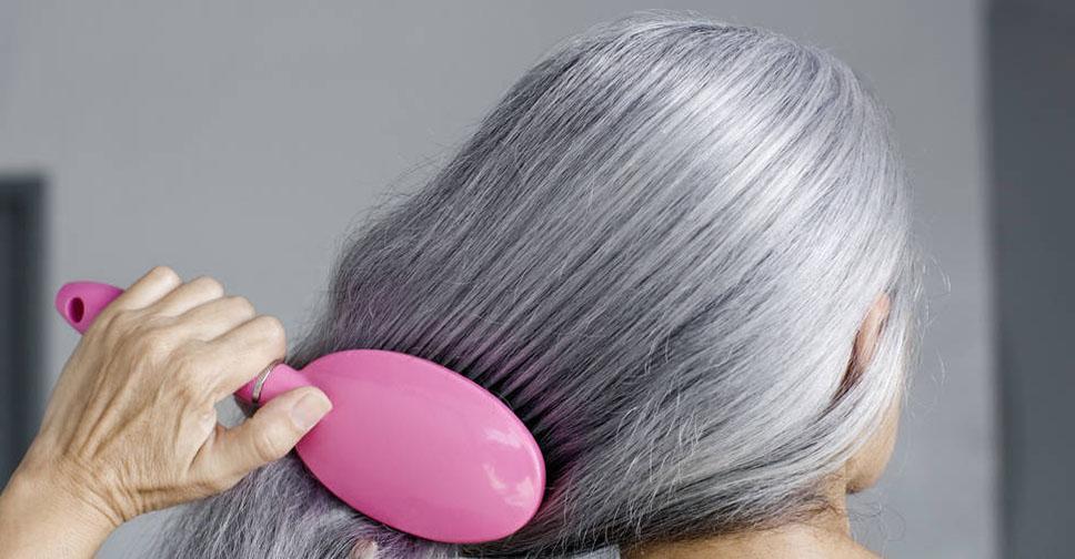 Как уменьшить седину волос