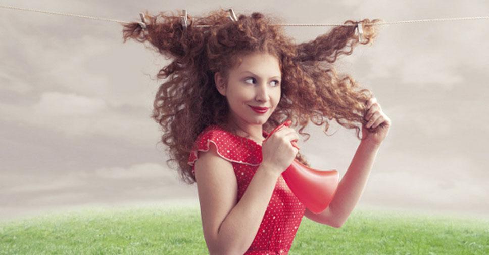 Сухие вьющиеся волосы