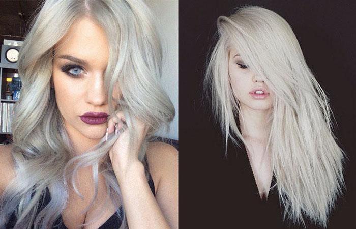 Тонирование волос холодный блонд