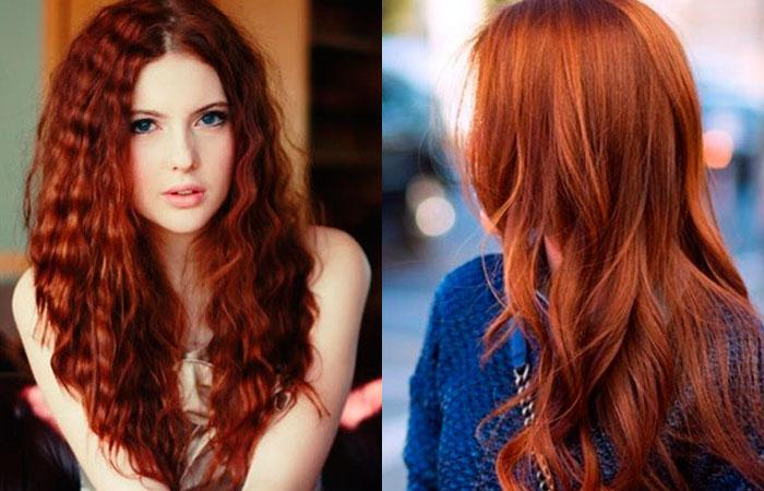 Медно рыжий цвет волос кому идет