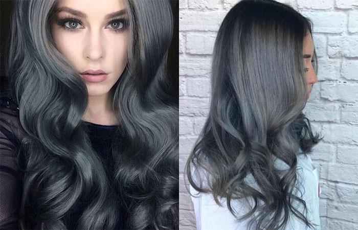 Покрашенные волосы в седой цвет в домашних условиях 111