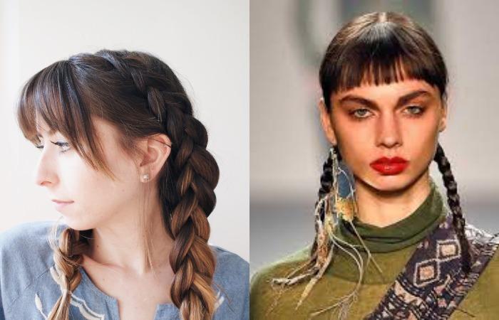 Две французские косы наоборот
