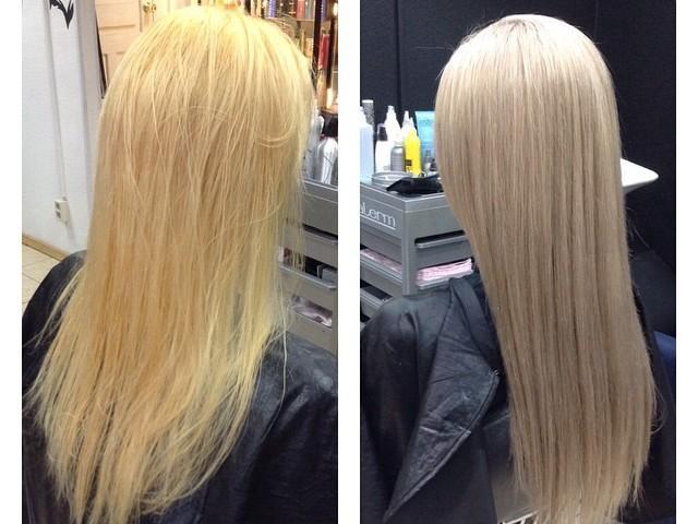 Тонирование волос после мелирования в домашних условиях чем 7