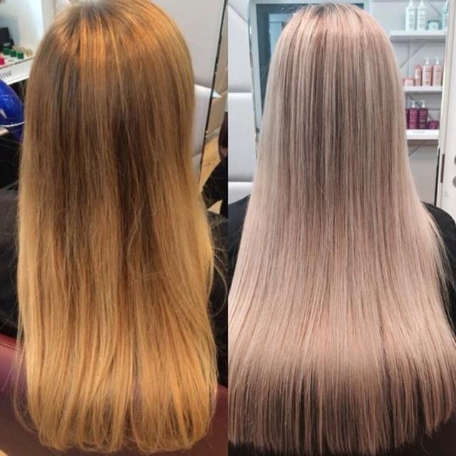 Тонирование волос после мелирования от желтизны