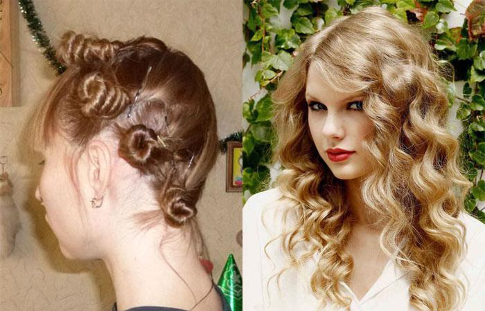 Как сделать волнистые волосы с помощью косичек 924