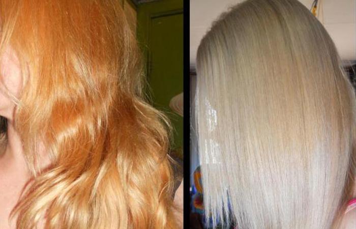 убрать желтизну с волос после осветления профессиональные