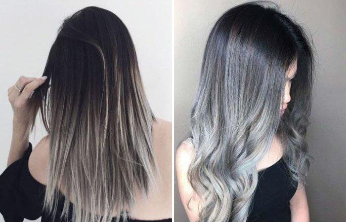Бежевое мелирование на русые волосы