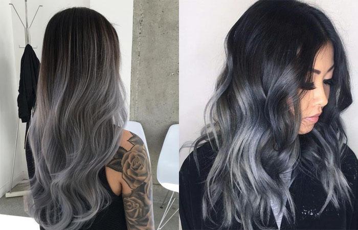 Как красить седые корни волос в домашних