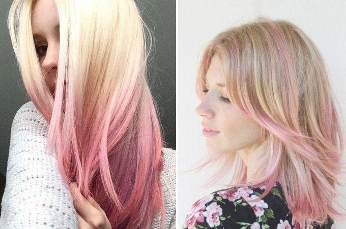 Розовое омбре как сделать розовым цветом кому подходят