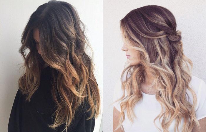 Растяжка цвета на волосах: фото окрашивания от темного к 21