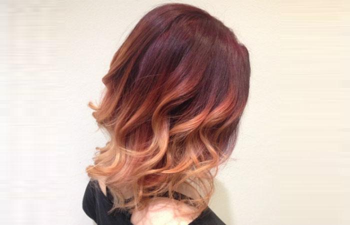 Растяжка цвета на волосах: фото окрашивания от темного к 59
