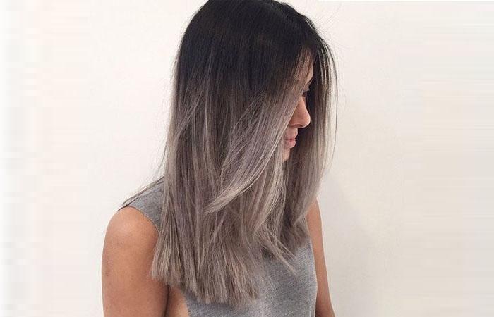 Растяжка цвета на волосах: фото окрашивания от темного к 28