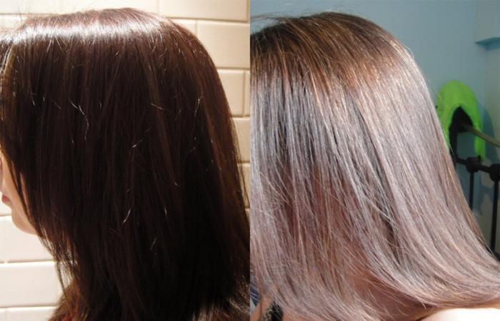 Если обесцветить крашеные черные волосы в домашних условиях 57