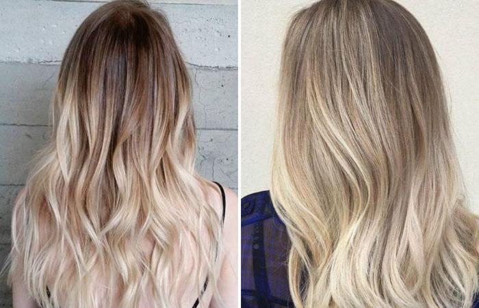Волосы окрашенные в блонд средней длины