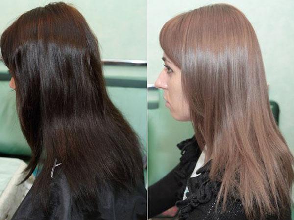 Как из черных волос сделать светлые фото 598