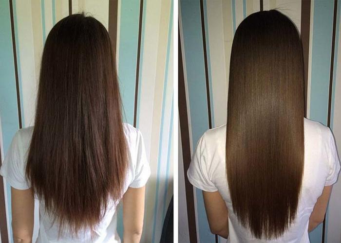 Сколько держится кератин на волосах