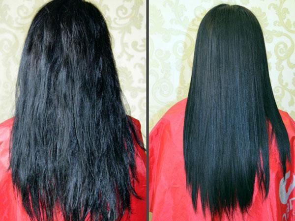 Выпрямитель для волос с функцией насыщения волос кератином