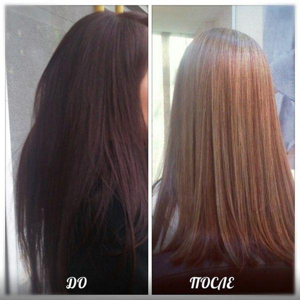 Если обесцветить крашеные черные волосы в домашних условиях 508