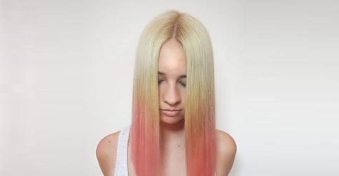 градиент на волосах