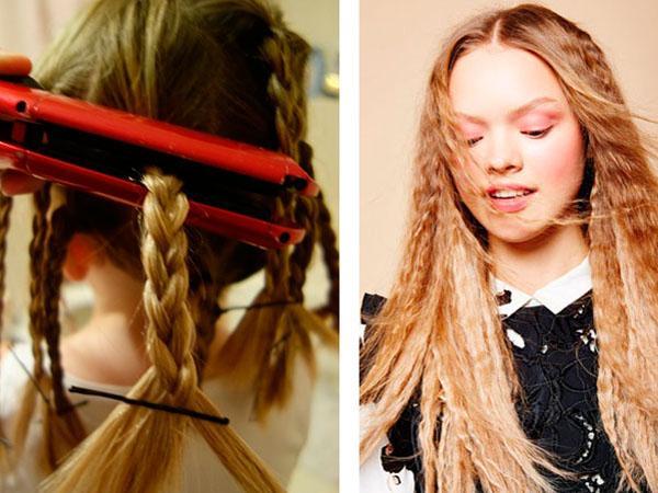 Как волнистые волосы сделать прямыми без утюжка 121