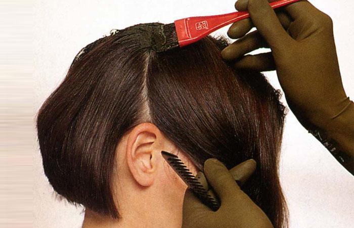 Как правильно нанести краску на волосы в  46