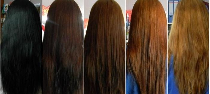 Как сделать смывку для темных волос 721